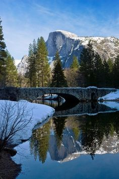 Three historic bridges over the Merced River could be removed during renovations at Yosemite National Park. photo by Jim Goldstein, via National Trust for Historic Preservation. Great Places, Places To See, Beautiful Places, Amazing Places, Merced River, Places In America, Yosemite Valley, Yosemite National Park, State Parks