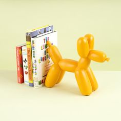 Balloon Animal Bookend (Orange) in Desk Accessories | The Land of Nod