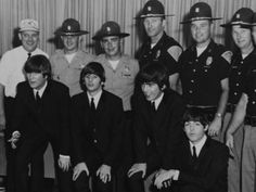 The Beatles, with Indiana's finest, September 1964. The Beatles performed at the Indiana State Fairgrounds Coliseum Sept. 3, their only performance in Indiana.