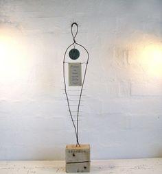 Zodiac Wire Sculpture Scorpio. Rustic Wire Art. Driftwood Art. Mixed Media Sculpture.