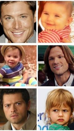 Jensen and JJ (Justice Jay), Jared and Thomas( he also have another son Shep) , Misha and West( he also have a daugther Maison). They look just like their daddies ♡.
