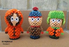 3D Origami of the day —> South Park characters