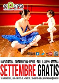 Opera laboratorio arte danza, Advertise September