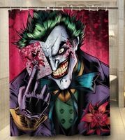 Custom joker comic book art Bathroom Shower Curtain 140x180cm Bath Curtain Waterproof Polyester Bathroom Curtains