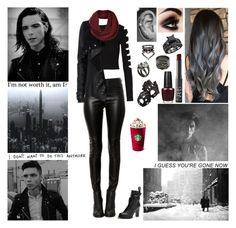 """""""✖ Different inflection when you say my name. Kiss me, but your kiss don't taste the same. Is it real or am I going out of my mind? ✖"""" by blueknight ❤ liked on Polyvore featuring Cushnie Et Ochs, Widow, River Island, Topshop, Aspinal of London, OPI, NARS Cosmetics, Unearthen, Repossi and COS"""