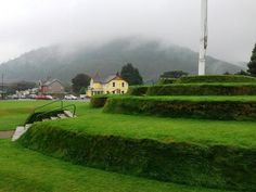 Tynwald Hill. The ancient seat of the Isle of Man's Parliament, situated in St. Johns, Isle of Man.