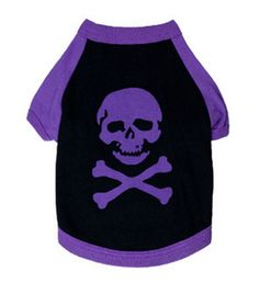 Scheppend Summer Purple Skull Printing Personality Cool Cotton T-shirt Pet Dogs Clothes Supplies >>> Quickly view this special dog product, click the image : Dog Apparel and Accessories