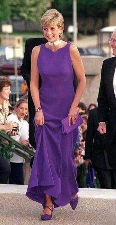 Princess Diana in purple dress