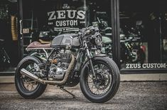 "caferacerpasion: "" caferacerpasion.com Royal Enfield #CafeRacer - The Zeno Racer Project by Zeus Custom [TAGS] #caferacerpasion #royalenfield #caferacersofinstagram #caferacerxxx #motorcycles #motos """