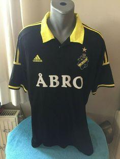 603c697d0 AIK FOTBOLL SWEDEN 2013 14 Home Football Shirt Trikot Maillot Camiseta Size  XL  adidas