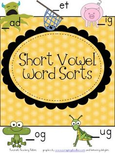 short vowels, printable