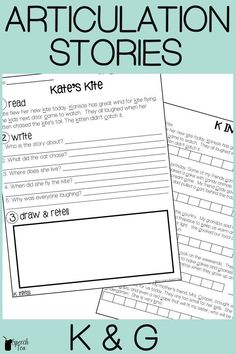 These articulation stories for /k/ and /g/ are perfect for your speech therapy sessions. The stories include a language component with WH questions to make it perfect for mixed group sessions. The stories include K and G in the initial, medial, and final positions. Click for more info.