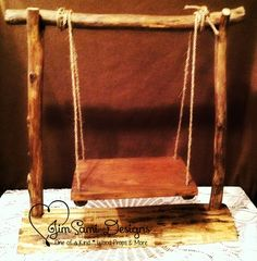 Rustic Log Newborn Swing Stand Prop JimSami Designs