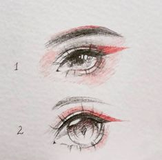Drawing a fantasy-creature eye. Option 1 or 2?