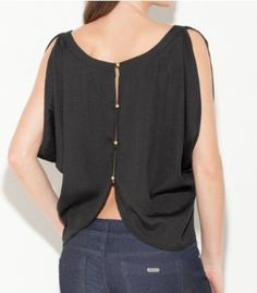 G by GUESS Lillies Open-Back Crepe Top, JET BLACK (SMALL) G by GUESS. $34.50
