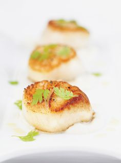 Ricardo's recipe : Seared Scallops on Celery Root Purée