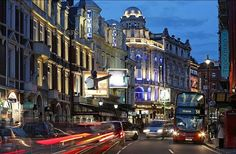 West End. Shaftesbury Avenue, London, England - wonderful theater district and convenient to Chinatown for eating and Soho for clubs & shops.