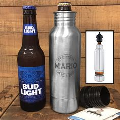 Personalized bottle keeper, groomsmen beer koozies, keep your beer colder for longer! This is the perfect wedding party gift for any man, we can custom engrave these anyway you would like!  Names, monograms, quotes, logos or anything else you might want!