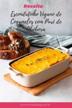 Vegan Mushroom Escondidinho with Pumpkin Puree - Modern Veggie Recipes, Vegetarian Recipes, Cooking Recipes, Vegan Foods, Vegan Dishes, Comidas Fitness, Vegan Meal Prep, Going Vegan, Food Inspiration