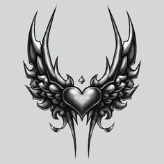 Small Wing Heart w/ Crest T Shirt