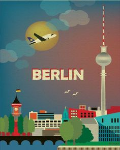 vintage travel posters berlin - Google Search