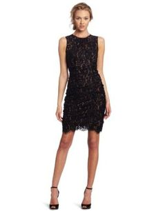 Eliza J Women's Ruched Lace Dress