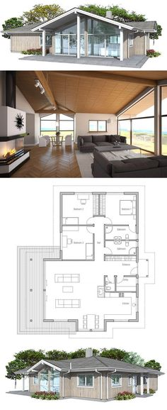 Container House - plan de petite maison - Who Else Wants Simple Step-By-Step Plans To Design And Build A Container Home From Scratch? Building A Container Home, Container House Plans, Container Homes, Small House Plans, House Floor Plans, Casas Containers, Sims House, Good House, House Layouts