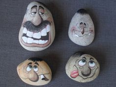 Creative Diy Ideas For Pebble Art Crafts! Pebble Painting, Pebble Art, Stone Painting, Diy Painting, Stone Crafts, Rock Crafts, Arts And Crafts, Caillou Roche, Art Rupestre