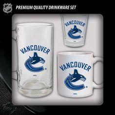 Ensemble 3 pièces comprenant une tasse, un buck et un shooter des Canucks de Vancouver! Autres modèles également offerts!