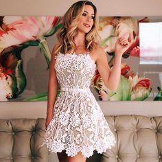 A-Line Dresses,Straps Dresses,White Lace Homecoming Dresses,Sash Homecoming Dresses Trendy Dresses, Simple Dresses, Elegant Dresses, Cute Dresses, Beautiful Dresses, Casual Dresses, Short Dresses, Formal Dresses, Sexy Dresses