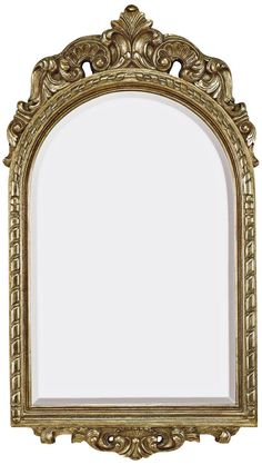"Chilton Antique Silver 21""x37"" Crown Top Wall Mirror"