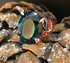 Sarpa Ring Petrol Gemstone Rings, Christmas Gifts, Jewels, Gemstones, Xmas Gifts, Christmas Presents, Jewerly, Gems, Minerals