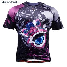 Cycling Jersey Blue Purple Color Monster Printing Man Cycling Clothing Compression Bike Clothing New HotSale