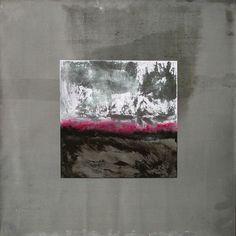 Blei 5 - Bleibild von Ute Latzke, Mixed Media: Blei, Acryl, MDF-Platte. #blei #lead #art #mixedmedia #graphic
