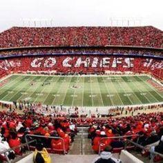 Kansas City Chiefs Football Stadium - We  LOVE to wear RED!!!