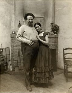 Frida Kahlo and Diego Rivera at home, Montgomery Street, San Francisco, 1930
