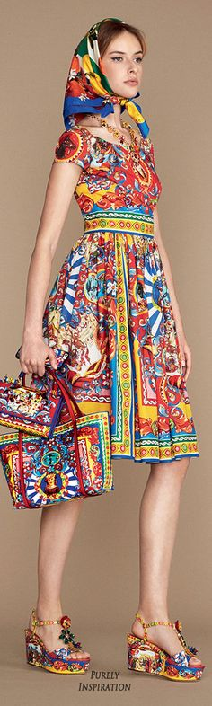 Dolce & Gabbana SS2016 Carretto Siciliano Women's Fashion RTW | Purely Inspiration