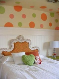 polka dot ceiling fan | Found on designdazzle.blogspot.com