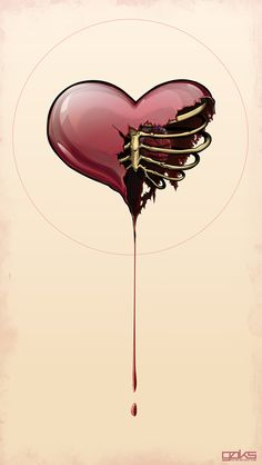 Guarded  by Gaks Designs (via Creattica) | This obviously has a very emotional quality, as well as being intriguing. I really like the organic character of the dripping blood(?), and how the heart appears almost like a bubble or as if it is actually composed of fluid itself. The misty highlighting enhances this aspect.