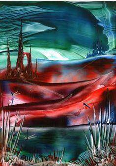 thundering skies on of my encaustic art paintings