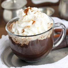 Dark Chocolate Mocha made with real ingredients.