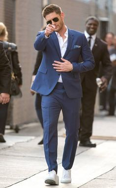 Jensen Ackles from The Big Picture: Today's Hot Photos  TV ready! The actor gestures to fans before his taping of Jimmy Kimmel Live! in Los Angeles.