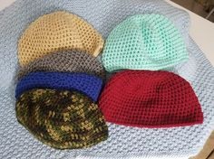 Crochet Skullcap Beanie Adult sizes Small through Large: $20 + S&H