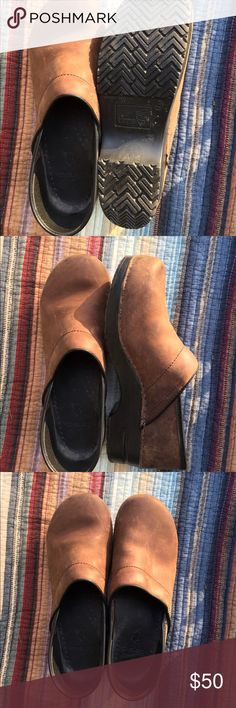 Classic Dansko Professional Oiled Brown Clogs Gorgeous pre loved condition, very minimal wear. Soles have loads of life left! Some minor scuffs standard from wear on this type of leather. These beauties will give you years of comfort! Size 42. Dansko Shoes Mules & Clogs