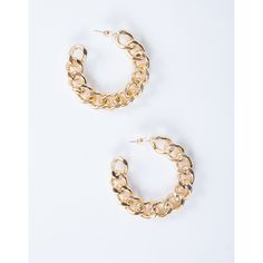 Mini Chain Hoop Earrings ($8) ❤ liked on Polyvore featuring jewelry, earrings, chains jewelry, post back earrings, chain link earrings, hoop earrings and chain earrings
