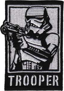 Star Wars Trooper Embroidered Iron Applique Patch SW66. $6.99, via Etsy.
