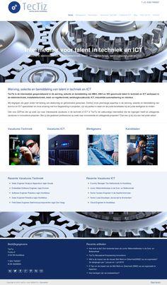 Responsive WordPress #Website voor Tectiz |  werving, selectie en bemiddeling in techniek en ICT te Hoofddorp www.tectiz.nl. Tevens gehele branding en nieuwe merknaam/logo verzorgd door www.boostingyourbrand.nl