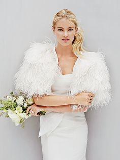 Elyse Taylor in a @rafaelcennamo wedding dress