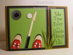 golfer punch art card (Great idea for Cindy)