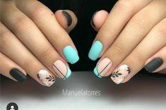 Gellux Nails, Teen Nails, Matte Nails, Blue Nails, Hair And Nails, Short Nail Designs, Nail Art Designs, Nails Today, Gel Nail Colors